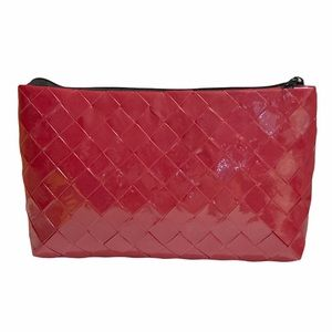 Handmade Clutch Wallet Multipurpose Pouch Red Cosmetics Case Travel Pouch